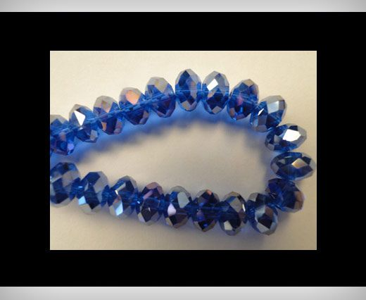 Faceted Glass Beads-12mm-Saphire-AB