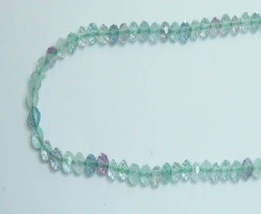 Faceted Natural stones - 2mm - Fluorite