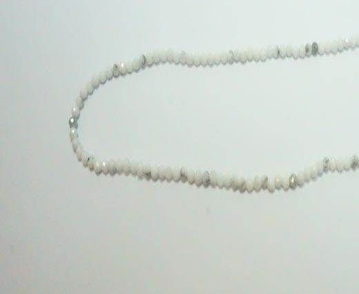 Faceted Natural stones - 2mm - Howlite