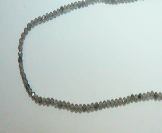 Faceted Natural stones - 2mm - Ice Obsidian