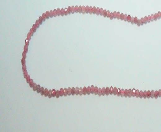 Faceted Natural stones - 2mm - Rose Tourmaline