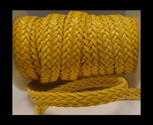 Flat Braided Cords-Style-2-12mm- Yellow