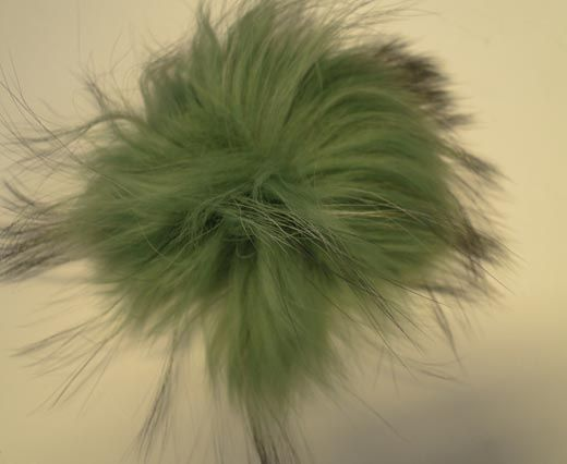 Finn Raccoon Pom Pom-Green-14cms