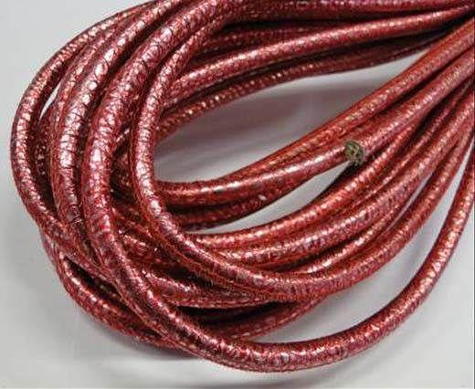 Fine Nappa-Plain-style -Shiny Rasberry Red-6mm