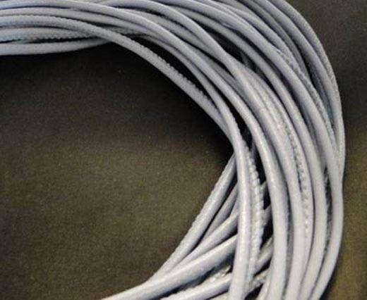Fine Nappa Leather Round Stitched-Blue Grey-2,5mm