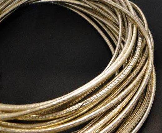 Fine Nappa Leather Round Stitched-Gold 1 -2,5mm