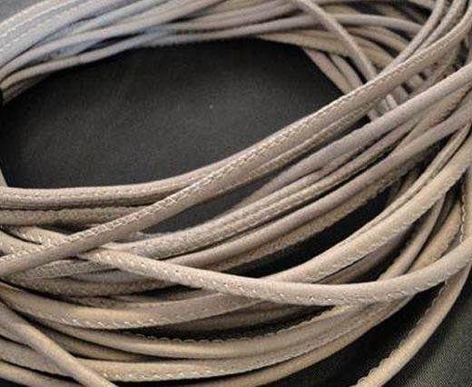 Fine Nappa Leather Round Stitched-Light Grey-2,5mm