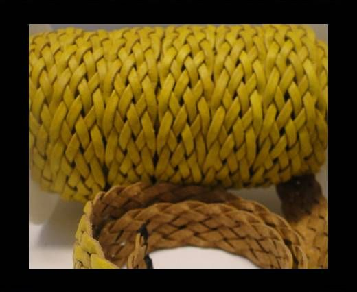 Flat Braided Cords-Style-4-18mm- Yellow