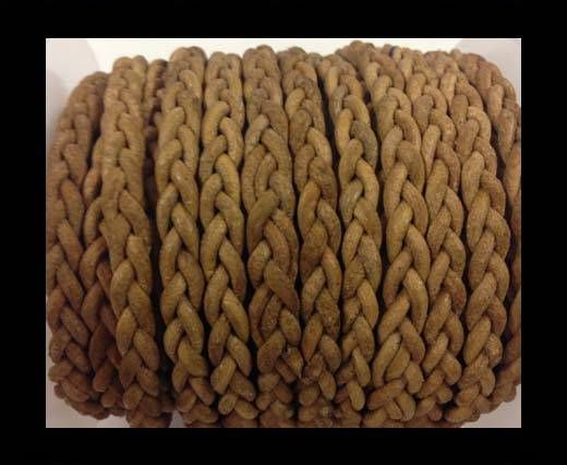 Flat Braided Cords - 3by2 -5mm  - natural