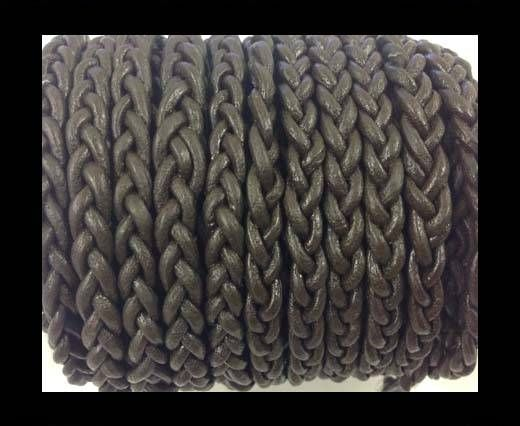 Flat Braided Cords - 3by2 -5mm  - dark brown