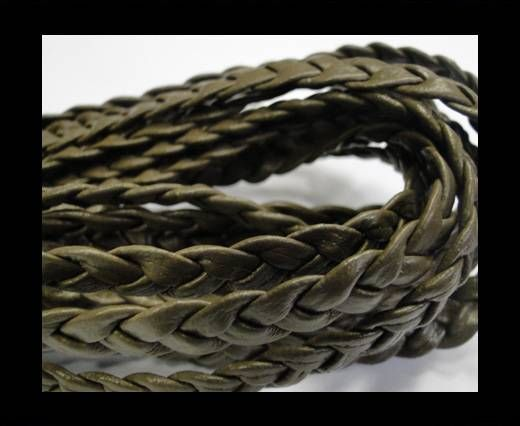 Flat Braided Nappa Cords 10mmTAUPE