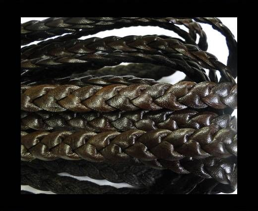 Flat Braided Nappa Cords 12mm-COFFEE