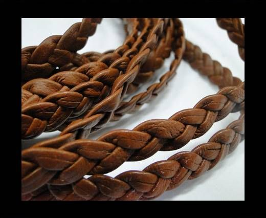 Flat Braided Nappa Cords 10mm TERRACOTTE