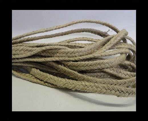 Flat Braided Nappa Cords 10mm Natural