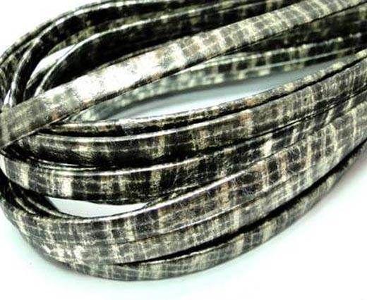RNL.Flat folden renforced-10mm-Snake patch style gold grey