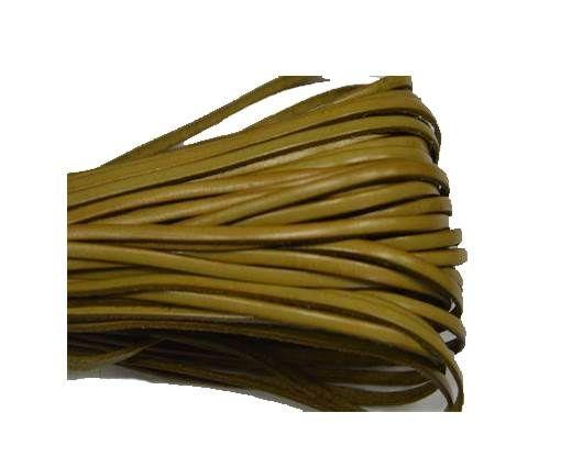 Flat leather Italian - 3 mm - Beige