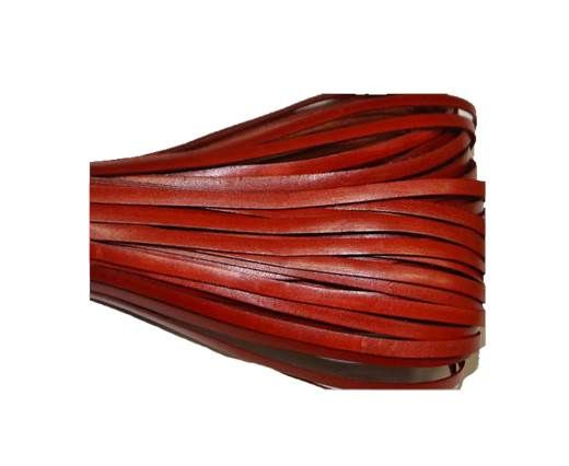 Flat leather Italian - 3 mm - Red