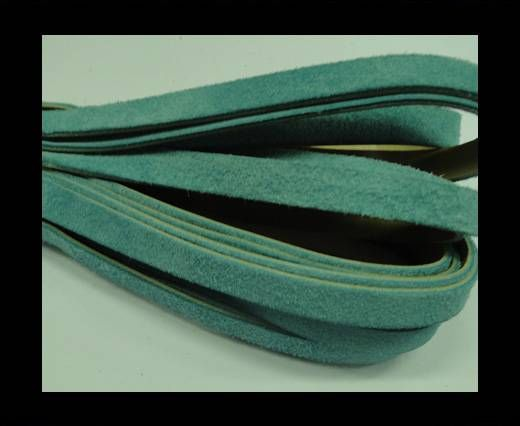 Flat Leather Cord Suede -10mm-Light Blue