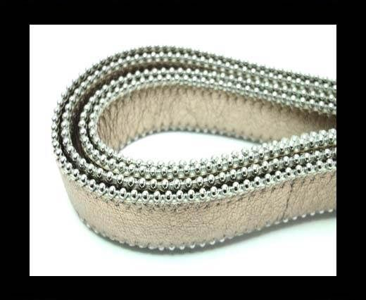 Flat Nappa Leather with Chains - 20mm - Rose Gold