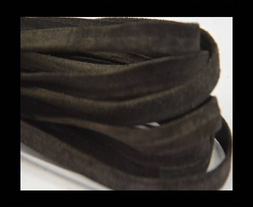 Flat Suede Leather-10mm-Dark brown