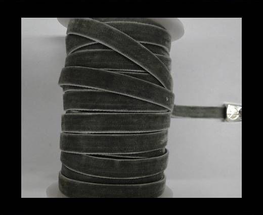 Flat Velvet Cords-10mm-Grey