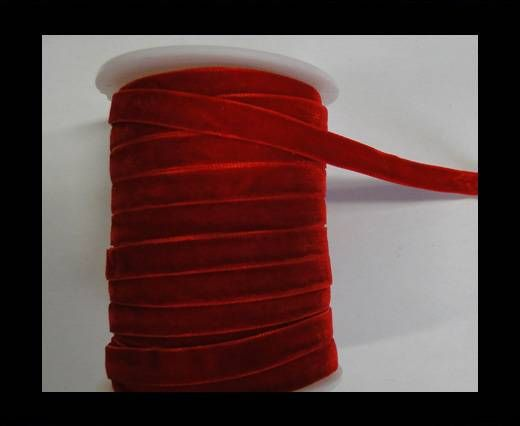 Flat Velvet Cords-10mm-Red