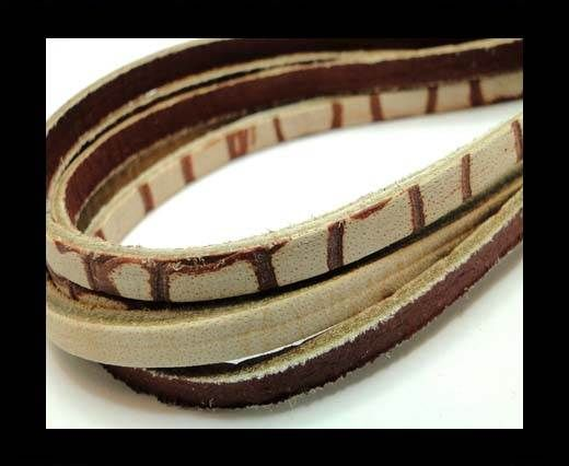 Flat Vintage Leather - 5mm - Tan
