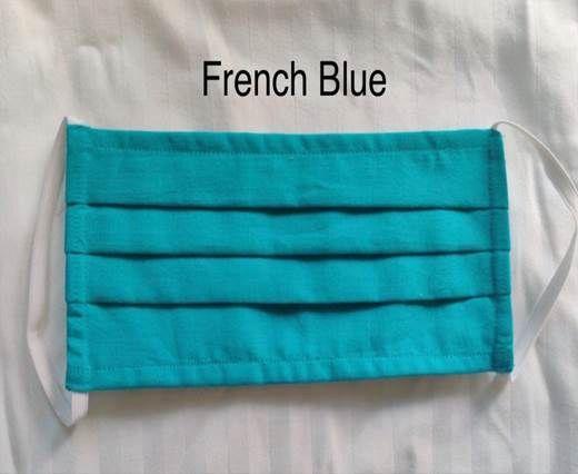 French Blue Washable Cotton Mask