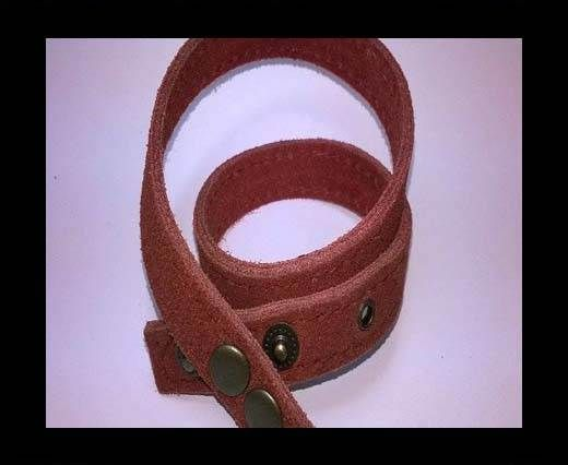 Full Real Leather bracelets - Pink- 43cms