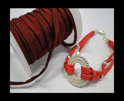 Habotai silk cords - Cherry