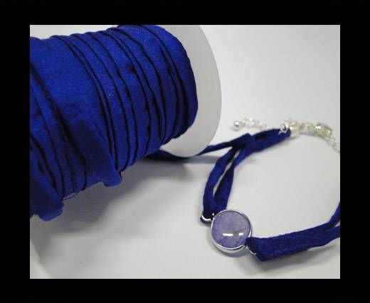 Habotai silk cords - Deep Blue