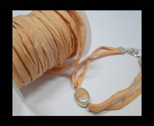Habotai silk cords - Dusty Peach