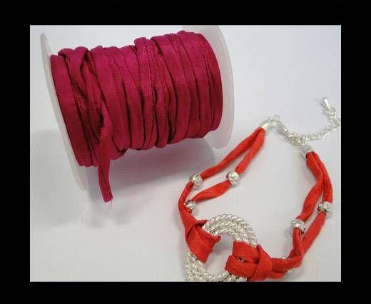 Habotai silk cords - Fuchsia