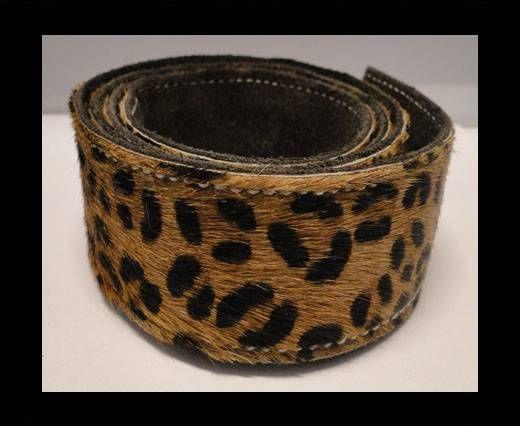 Hair-On Leather Belts-Leopard Skin (small spots)-40mm