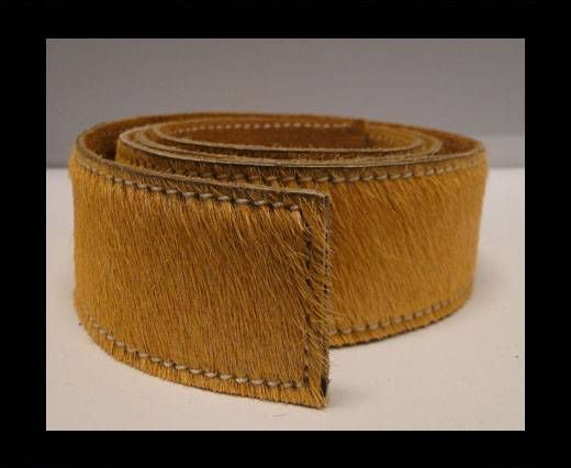 Hair-On Leather Belts-Light Brown-40mm