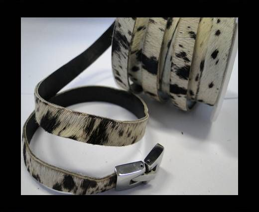 Hair-On-Flat Leather- White Cow Skin -10MM