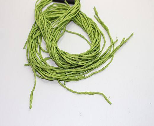 SILK CORDS - 2MM - ROUND - LEMON GREEN
