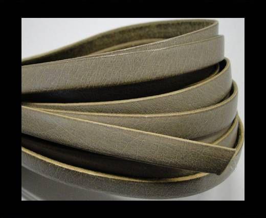 Flat Leather-Natural edges - Ecru