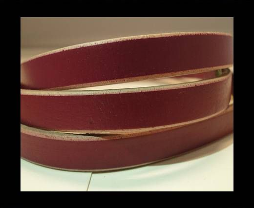 Flat Leather- Natural Edges -Pink-10mm