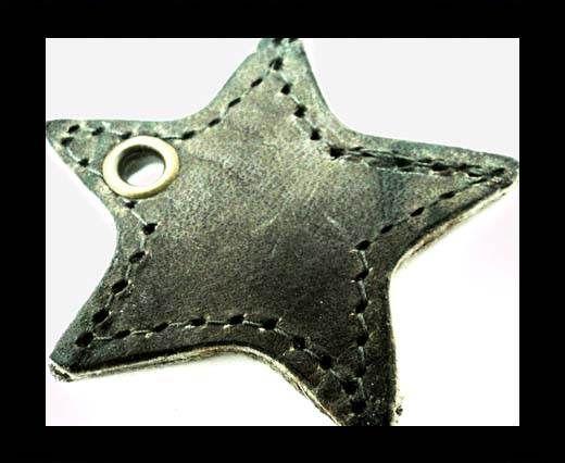 KC-Key Cord Star Shape 4cm Grey