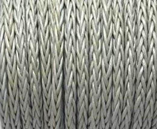 Round Braided Bolo Cords - 4mm - light grey