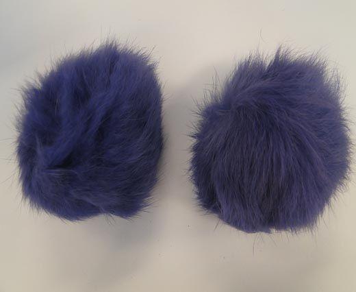 Rabbit Fur Pom Pom-Light Purple-8cms