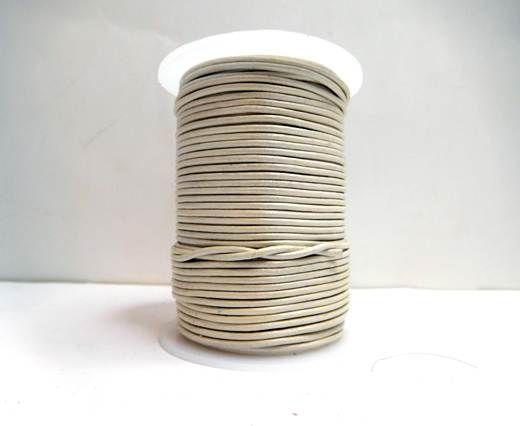 Round Leather Cord-1,5mm-M. Pearl