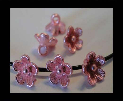 Metal Beads-Flower-Pink-8mm