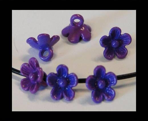 Metal Beads-Flower-Purple-8mm