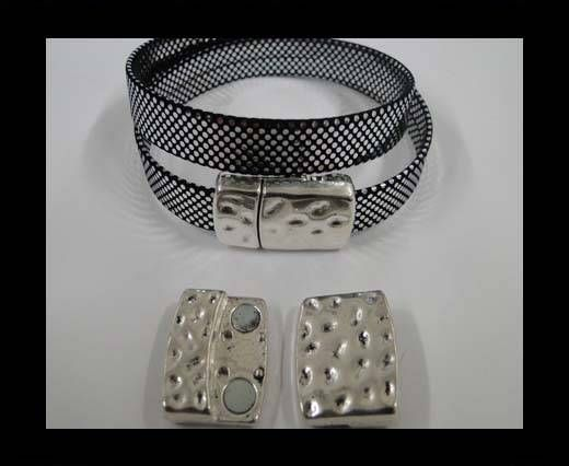 Zamak magnetic clasp MGL-281-20*2,5mm-Antique silver
