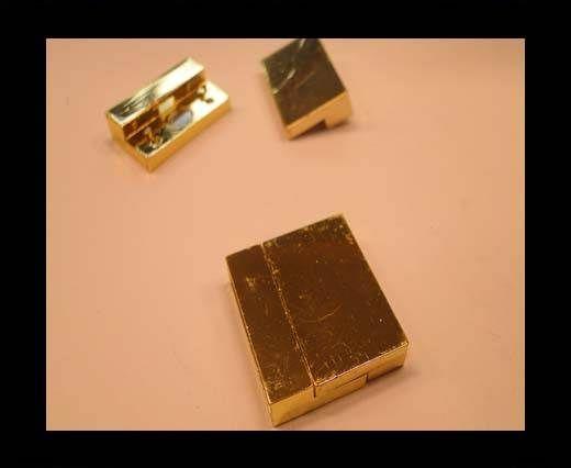 Zamak magnetic clasp MGL-122-20*2,5mm--gold