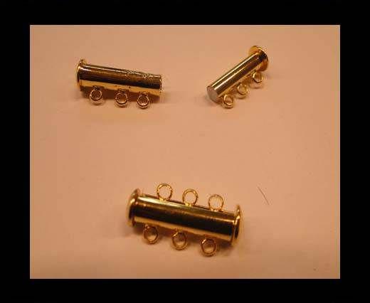 Zamak magnetic clasp MGL-160-20mm-gold