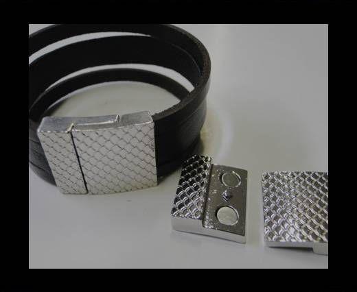 Zamak magnetic claps MGL-246-20*3MM-Steel