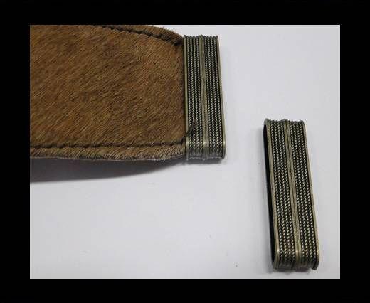 Zamak magnetic clasp MGL-250-35*4mm Antique Gold